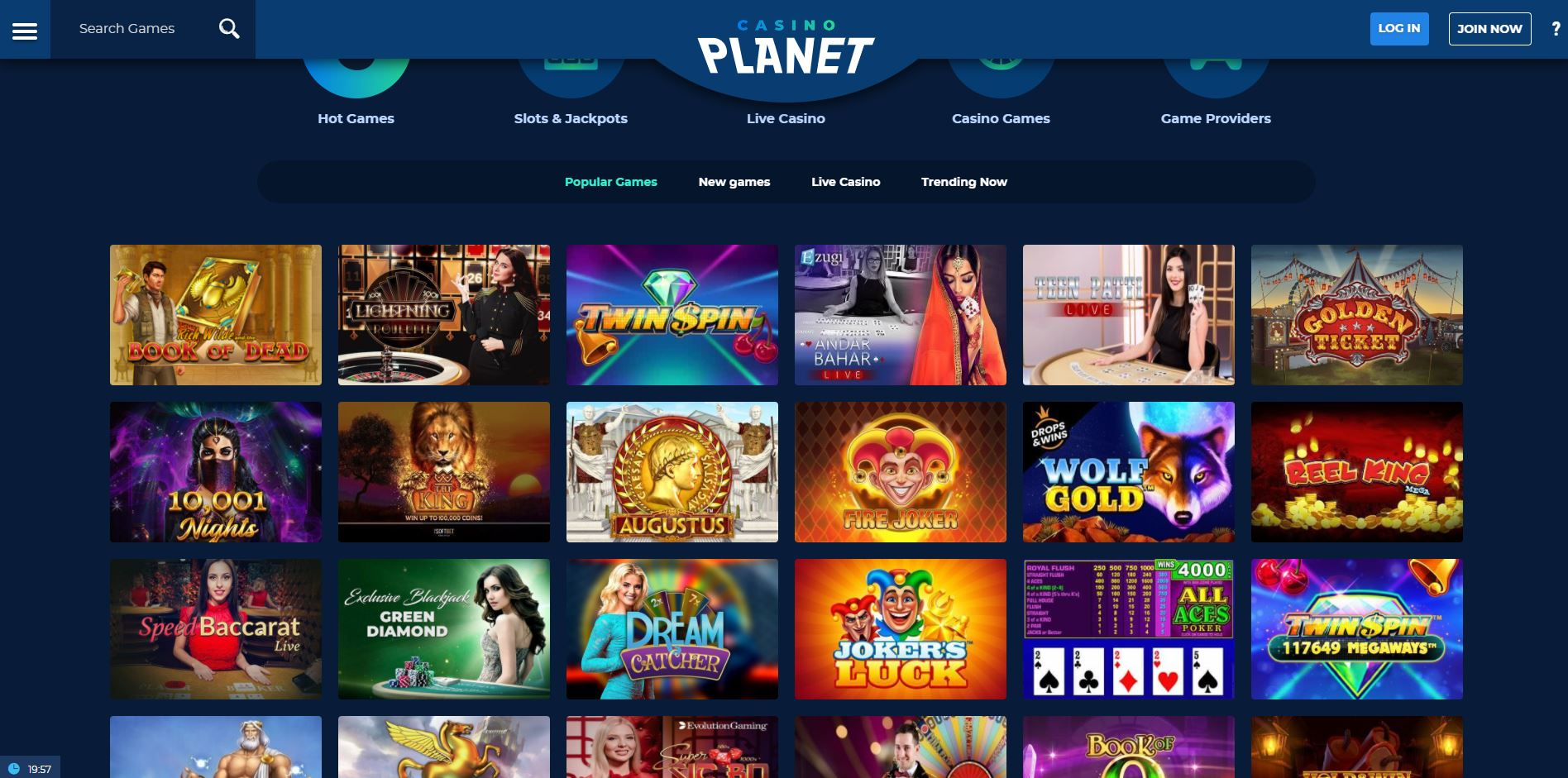 Casino Planet India Review