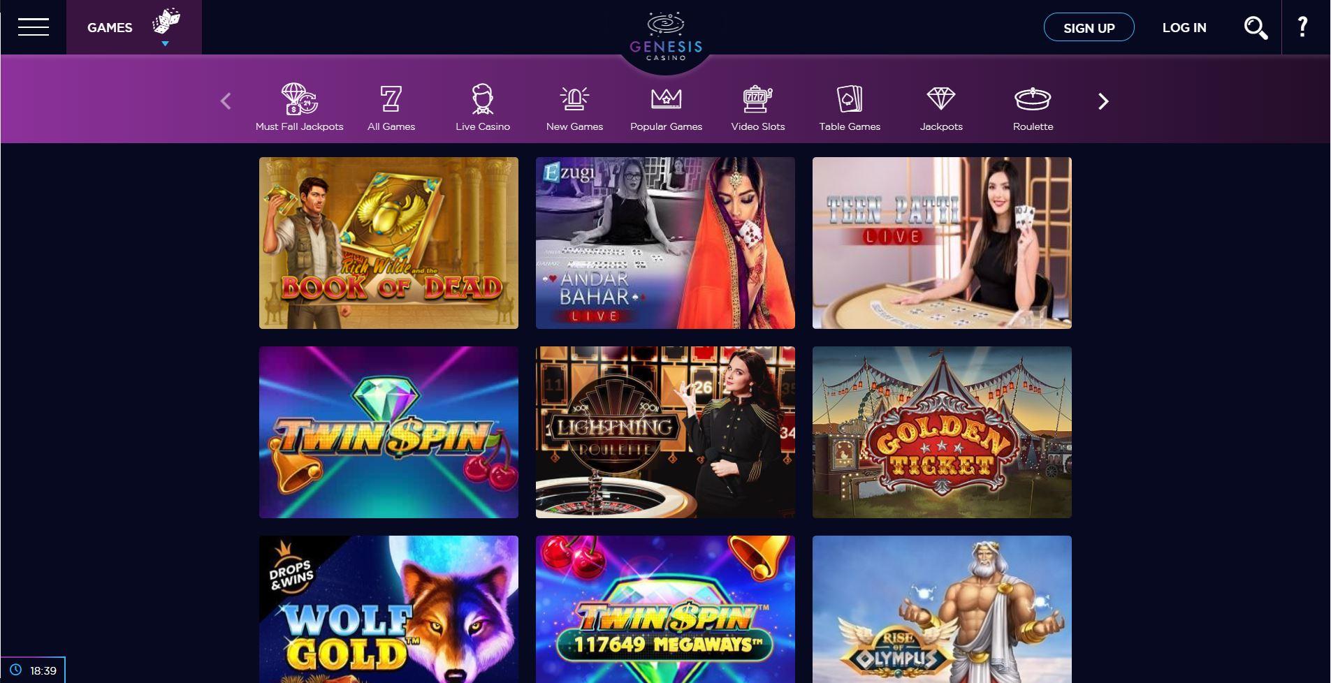 Genesis Casino India Review