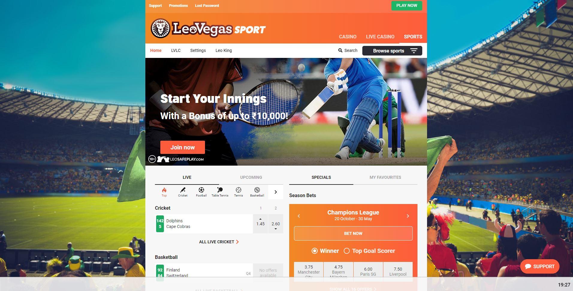 LeoVegas Sportsbook Review