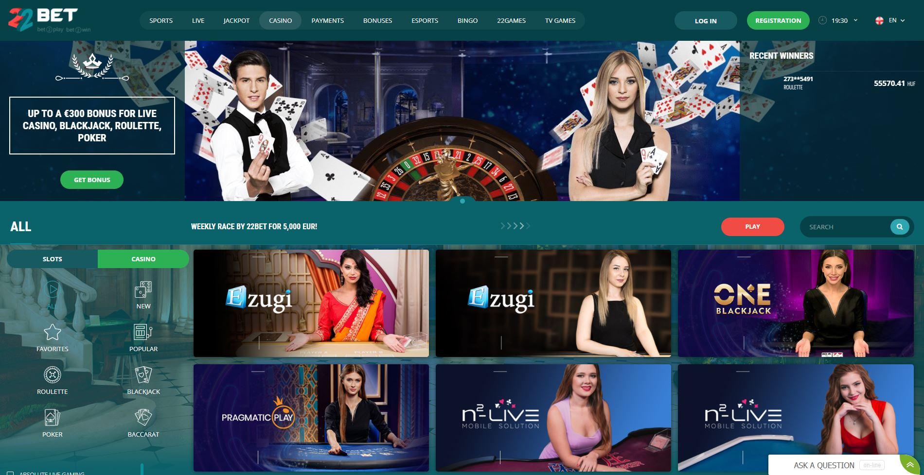22Bet-india online casino