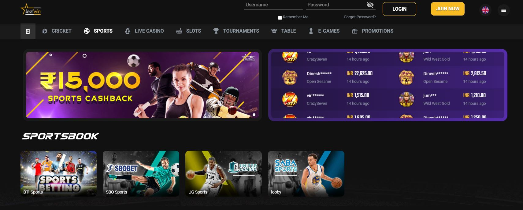 JeetWin India sportsbook review