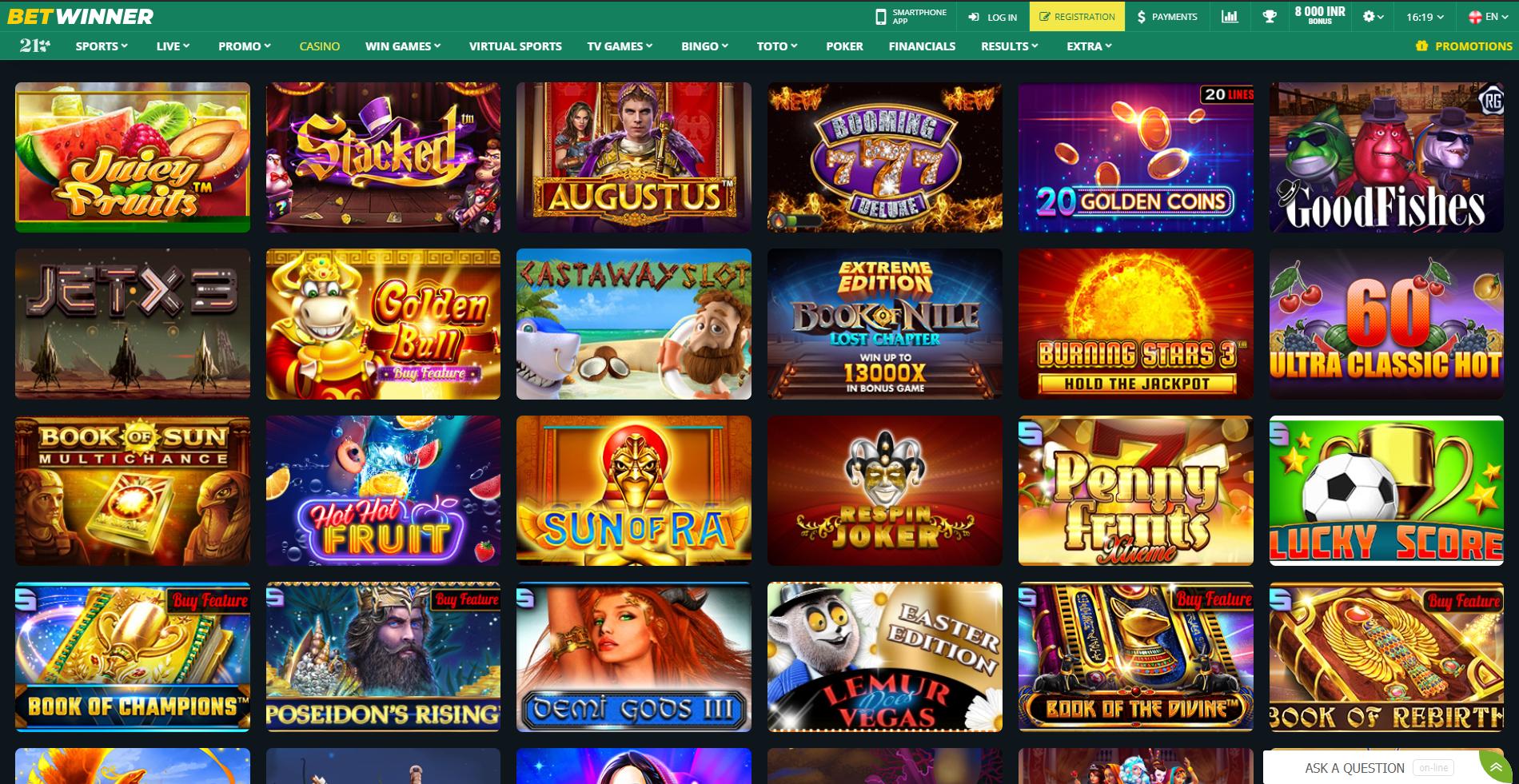 Betwinner online casino
