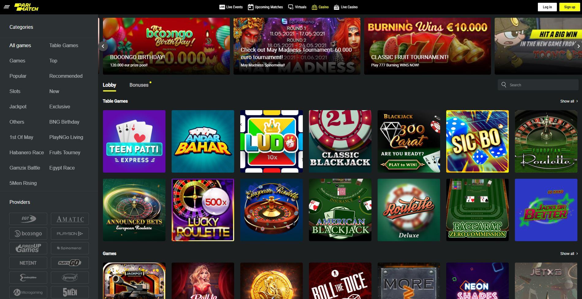 Parimatch Online Casino Review