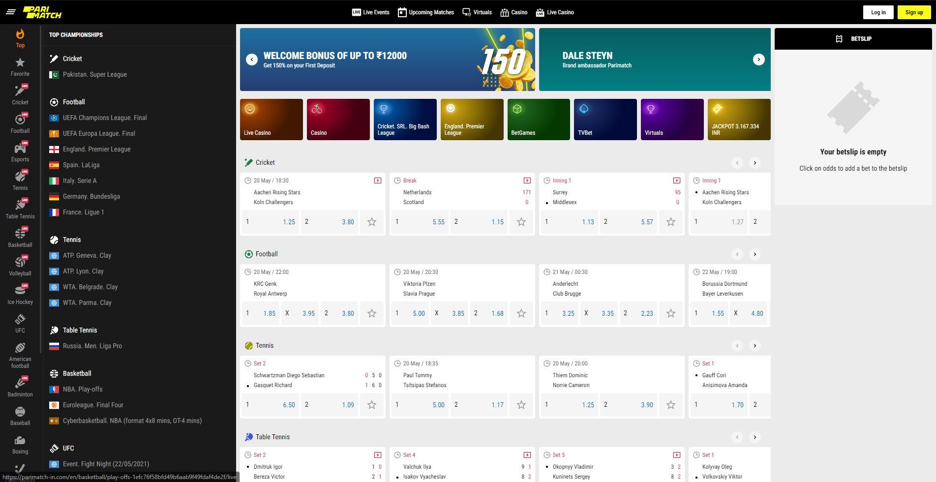 Parimatch Online Sportsbook Review