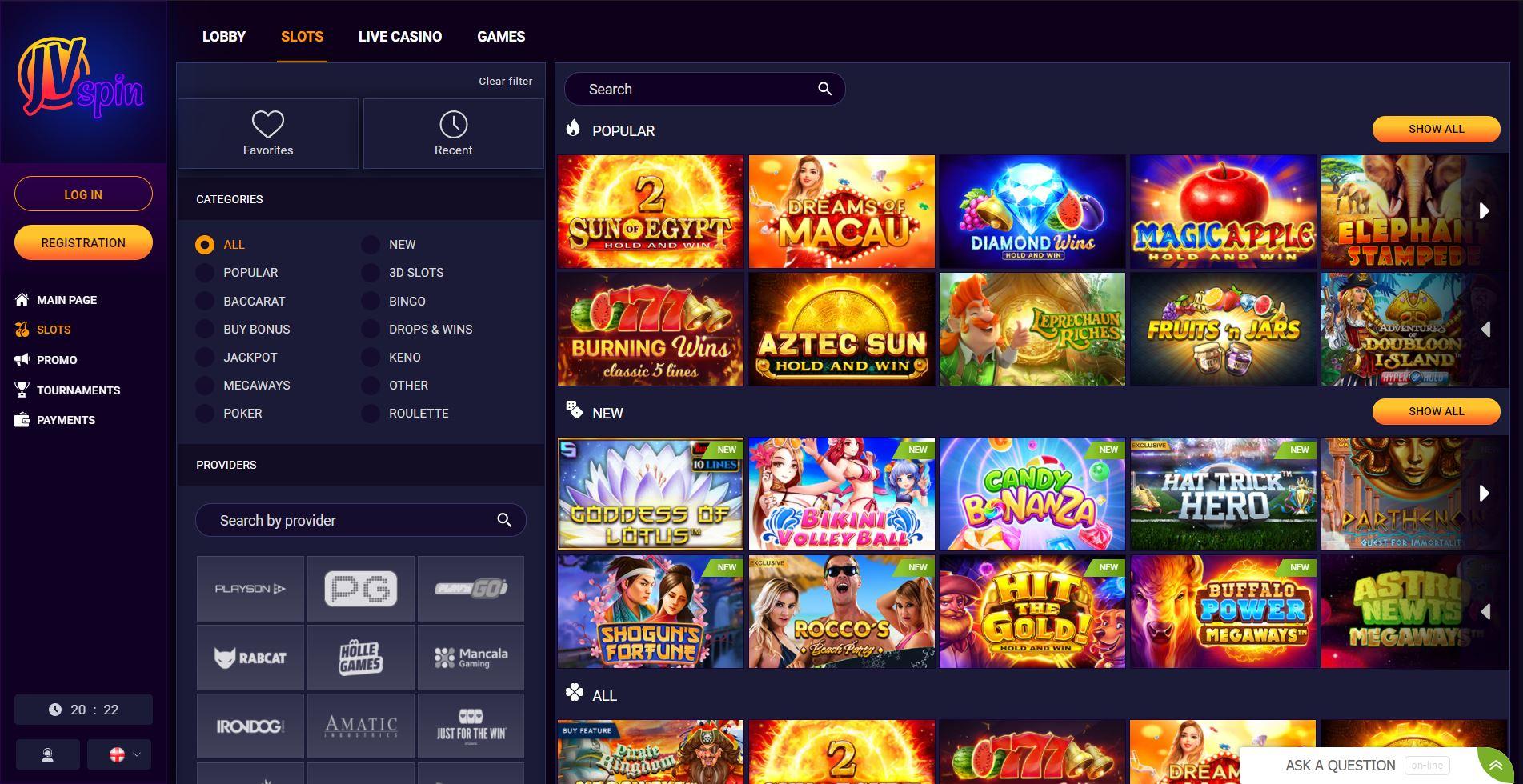 JV Spin Casino india