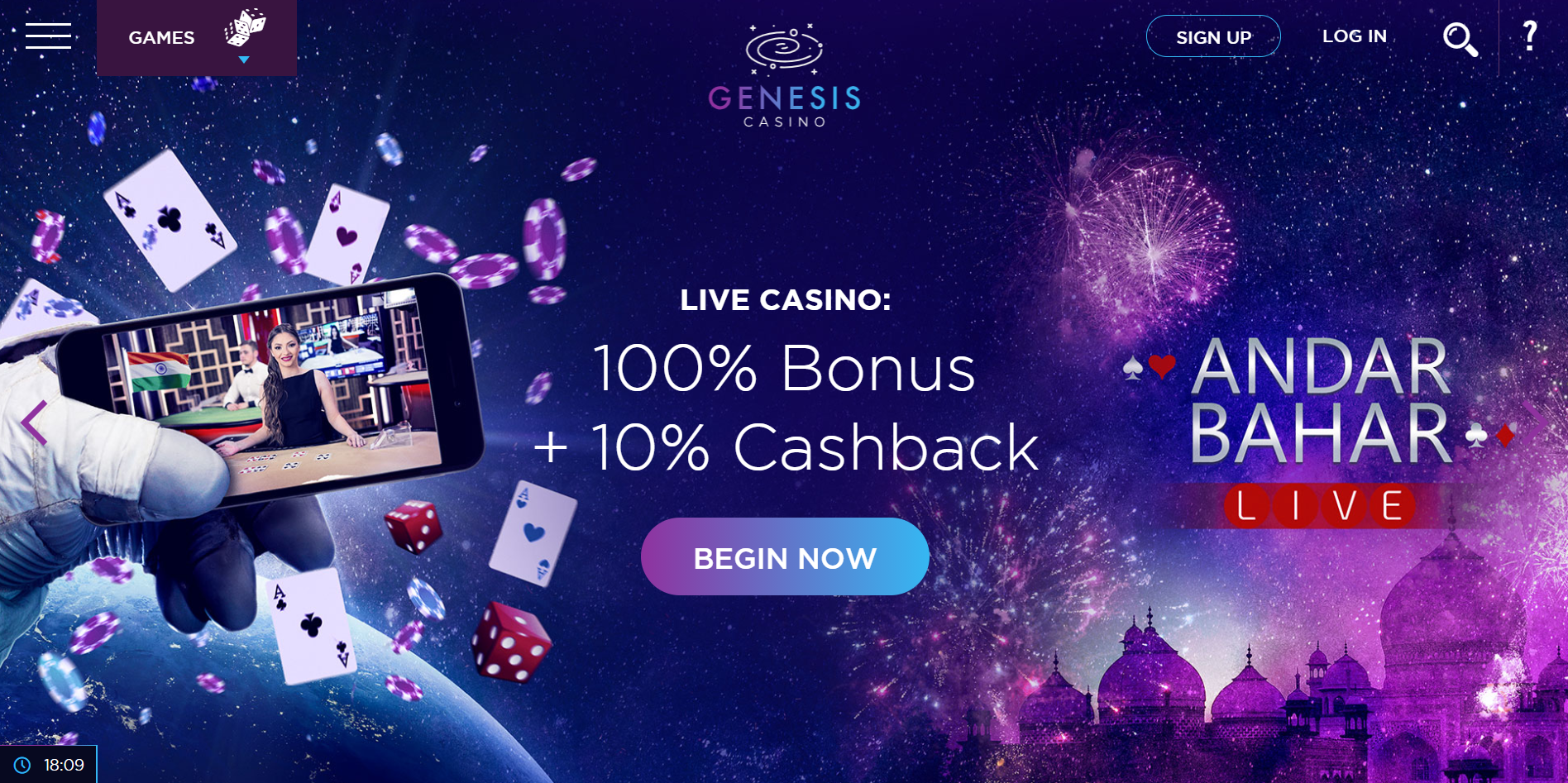 Get started with Genesis Casino India