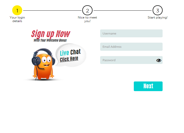 Sign-up form at Spinit India